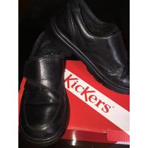 Zapatos Kickers Escolares Talle Nro. 31 Con Velcro