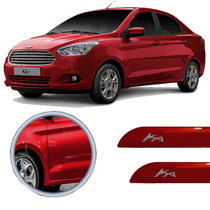 Friso Lateral Ford Ka Sedan 2013 Vermelho Arpoador