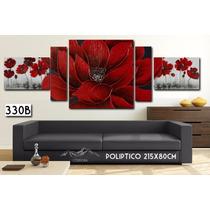 Cuadro Moderno Flores 215x80cm O 180x80cm Decorativo Living
