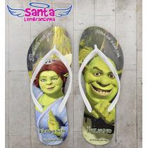 Chinelo Casamento Personalizado, Shrek E Fiona - Kit 20 Pare