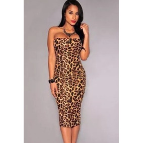 Mini Vestido Sexi Ajustado Ideal Fiesta Antro Animal Print
