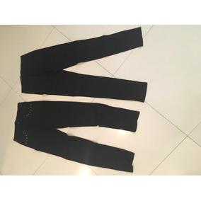 Pantalon Elastizado Negro Con Tachas T. M O L