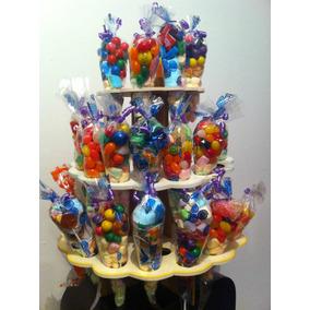 Base Madera P/bolsas Conos Dulceros, Cupcakes, Pintada Dmm