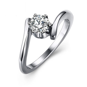 Alian A Compromisso Prata Diamantada - Anéis com o melhor preço no ... b9947a191a