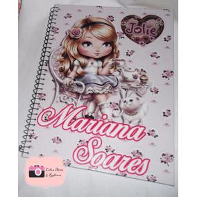 Caderno Personalizado Com O Nome Da Jolie De 1 Materia