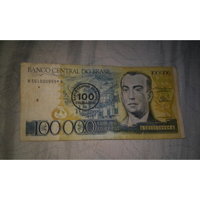 Nota Antiga De Cem Mil Cruzeiros