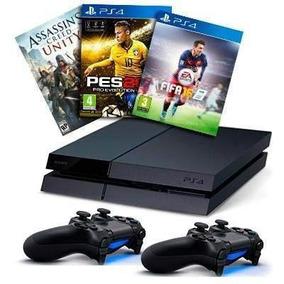 Ps4 1tb Playstation 4 1tb + 2 Joysticks