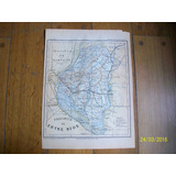 Mapa Provincia De Entre Rios. Grabado Original De 1889
