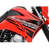 Kit Adesivos Faixas Yamaha Lander 250 - 2014 Vermelha
