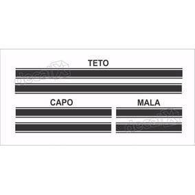 Kit Adesivo Faixa Capo, Teto E Mala Nissan March Imp21