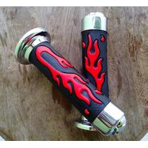 Par Manopla Fogo Vermelho Red Caveira Skull Custom 7/8