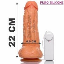 Pênis Prótese Pinto Grande Grosso Ventosa 22 X 5cm Silicone