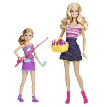 Hermanas De Barbie Barbie Ir Pesca Y Doll Stacie 2-pack