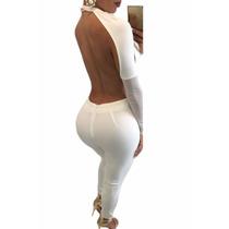 Sexy Body Blanco Amplio Escote, Espalda Desnuda Table Dance