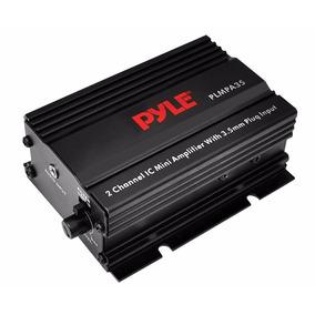 Pyle Mini Amplificador Plmpa35 Potencia Moto 12v 2 Canales