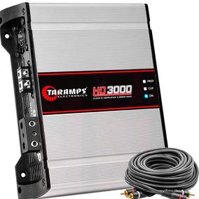 Módulo Amplificador Taramps Hd 3000 3000w 1 Canal + Cabo Rca