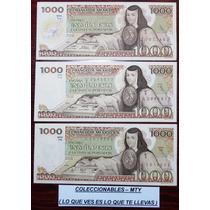 Billete De Mil Pesos Sor Juana ( El Precio Es Por Los 3 )