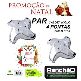 Par Calota Traseira 4 Pontas Caminhão Aro 16 17,5 + Natal
