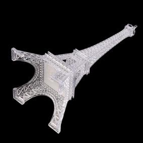 2 Torres Eiffel Em Acrilico Com Led Miniatura - 26 Cm Cores
