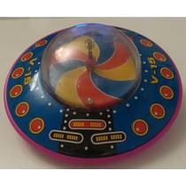 Juguete Antiguo Hojalata Japoneses Ovni Ufo Nave Espacial