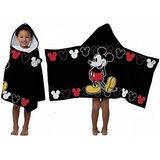 Toalla Disney Con Capucha Jf Mickey Mouse Negro