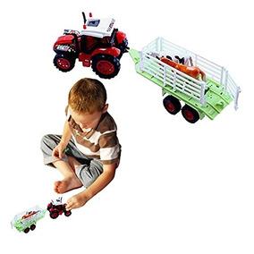 Cubby Juguete Tractor Agrícola Y De Remolque Desmontable Con