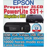 Proyector Epson Powerlite S31+ 3200 Lumenes Profesional Hdmi