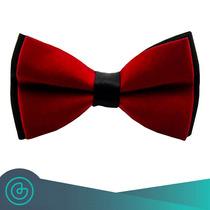 Corbata De Moño - Bow Tie Tinto Con Negro - Grin Accs