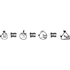 Vinilos Decorativos Cenefa Angry Birds