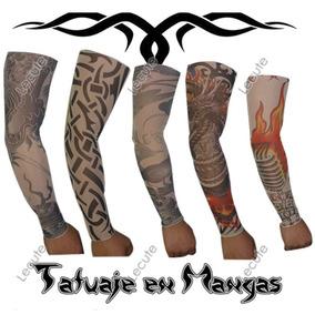 5 Pares Mangas Tatuajes Fiesta Eventos Disfraz Sleeve Tattoo