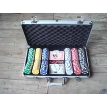 Juego De Poker En Valija De Aluminio Ficha 300 11,5gr Laser