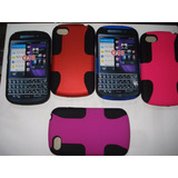 Forro Doble Microperforados Blackberry Q10 Colores Varios