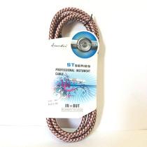Cable Plug P/guitarra Tejido Alta Calidad 3mts Colores