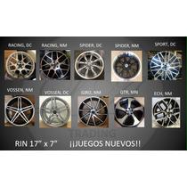 Rines Deportivos 17 Con Llantas, 205/40/17, 225/45/17