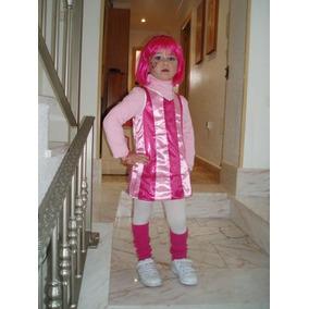 Disfraz Stephanie Talla 3 Años Lazy Town Porrista Peluca