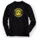 Camiseta Borussia Dortmund - Manga Longa 100% Algodão