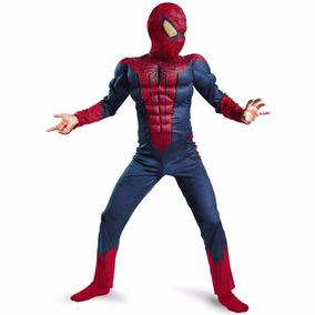 Disfraz De Spiderman Hombre Araña Deluxe Marvel Halloween