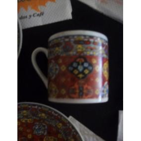Dúos De Café Porcelana Japón Pocillos Diseño Floral Oferta