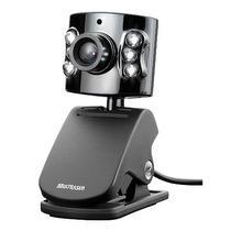 Webcam 480k Com Microfone Embutido - Conexão Usb Wc040 Pret