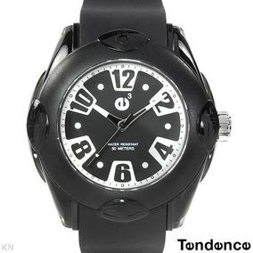 Reloj Tendence E3 Policarbonato Hi-tech, Negro