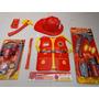 Super Kit Bombeiro Infantil Fantasia Colete E Acessorios