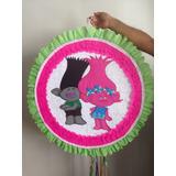 Bellas Piñatas Entamboradas En Foami Pintadas A Mano Trolls