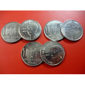 Brasil Set X 3 Monedas 1988 Unc Abolicion De La Esclavitud