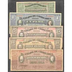 Coleccion De 5 Billetes De Chihuahua Revolucion