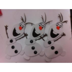 Figuras De Foamy Personajes Olaf De Frozen Lote 30 Piezas