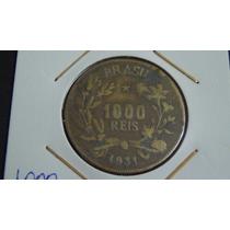 V#134 - Numismática Rara Moeda 1.000 Rs. 1931 República
