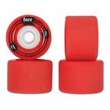Rodas Longboard Faceskate Vermelha 72mm 81a Freeride Slide