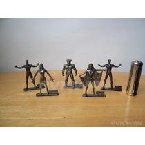 Lote 5 Mini Figuras Metálicas Marvel Xmen Fantastic Fou Md85