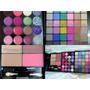 Kit/set Maquillaje Paleta Sombras-labiales-rubor-glitter-usa