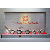 Singapur, Set Plata Proof, 1995, 7 Monedas. Caja Original.